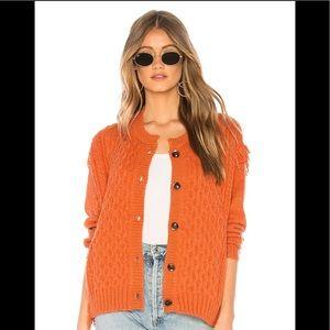 Revolve Tularosa Chester Fringe Sweater Jacket